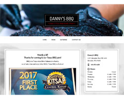 Danny's BBQ by HawkFeather Web Design